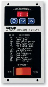 Power Up Generator of Auburn, NH rents, sells and maintains Kohler Advanced Digital Control to contractors in New Hampshire, Maine, Massachusetts, Connecticut, Vermont and Massachusetts